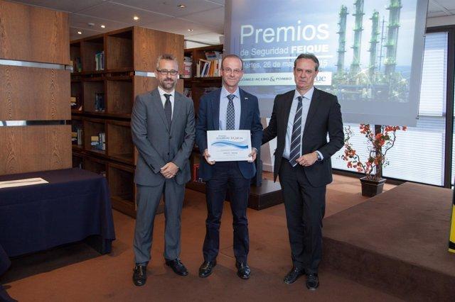 Entrega de Premio Seguridad 2014 de Feique a la fábrica Ercros.
