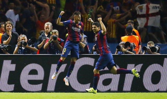 Luis Suárez y Neymar logran su ansiada 'Champions'
