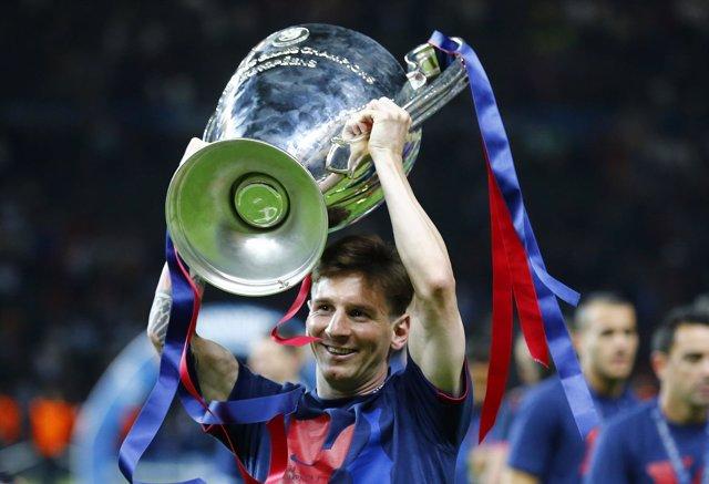 El delantero argentino del Barcelona, Leo Messi