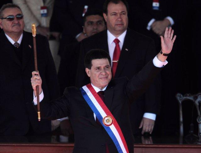 Presidente de Paraguay Horacio Cartes