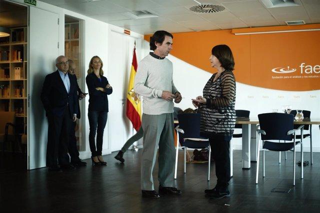 José María Aznar se reúne con Mitzy Capriles