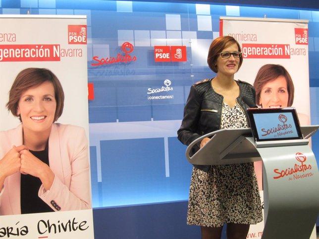La candidata del PSN a la Presidencia del Gobierno foral, María Chivite