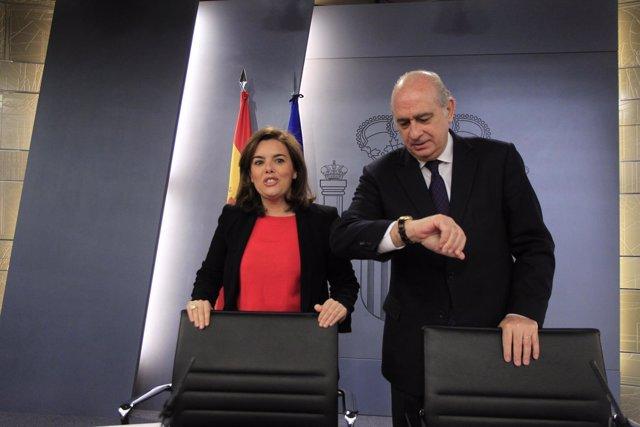 Soraya Santamaría y Jorge Fernández Díaz