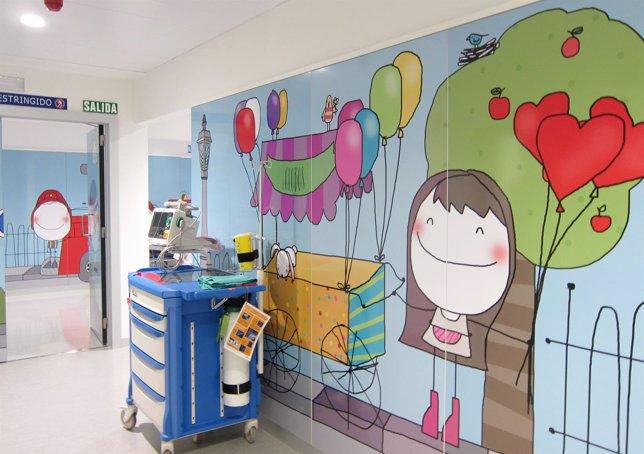 Hospital Clínico Universitario de Valladolid, zona infantil
