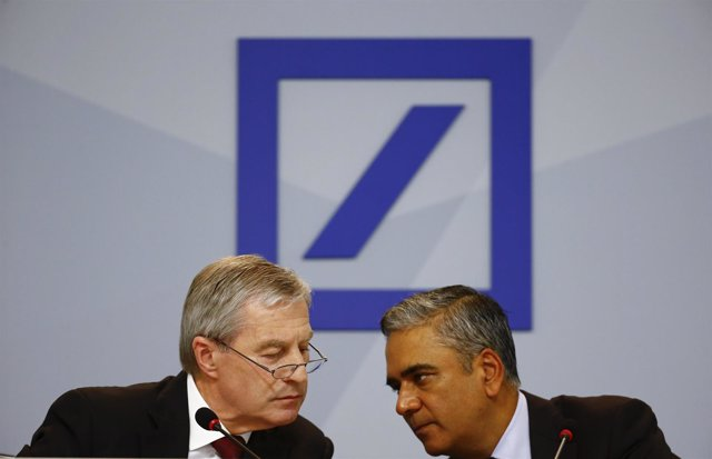 Jain and Fitschen, co-CEOs of Deutsche Bank