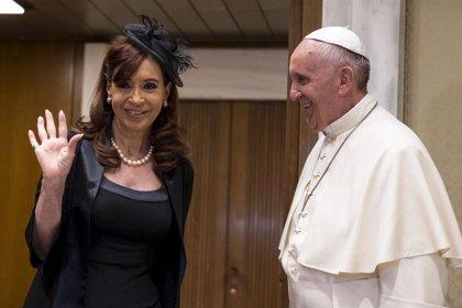 """Cristina Fernández, """"iluminada"""" tras la reunión con el Papa Francisco"""