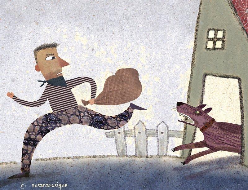 El Ladrón Y El Perro Fábulas Para Niños