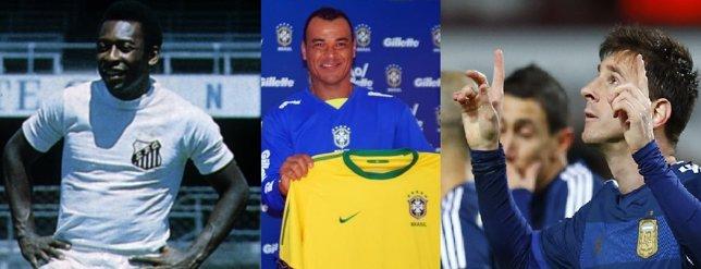 Pelé, Cafú y Messi