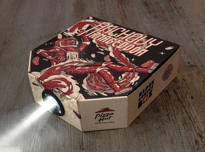 ¿Tienes una caja de pizza? Entonces, tienes un proyector de cine (DIY)