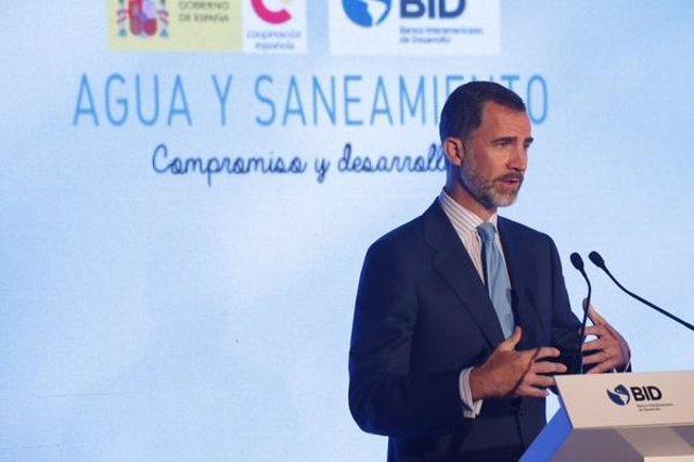 El Rey Felipe en el encuentro Agua y Saneamiento: reto compartido en América