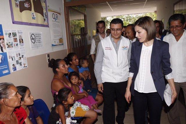 La Reina Letizia Ortiz en El Salvador.