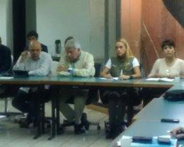 El expresidente del Gobierno Felipe González en una reunión con la MUD