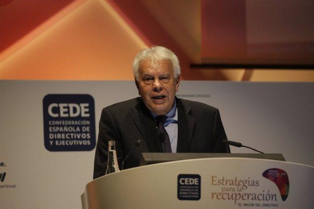 Felipe González en CEDE