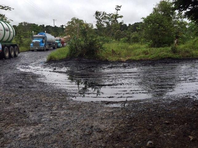 derrame de petróleo en Putamayo por las FARC