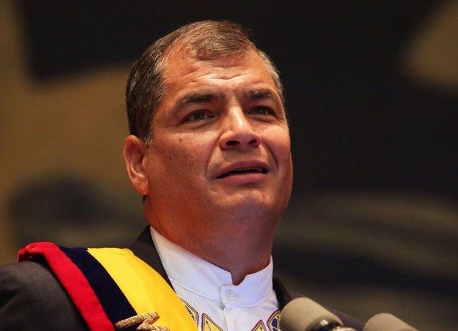 El presidente ecuatoriano, Rafael Correa