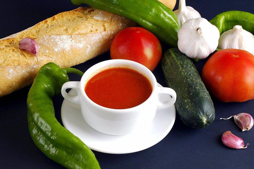 Ingredientes para hacer un gazpacho