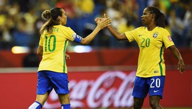 Selección de Brasil vence a Corea en Canadá