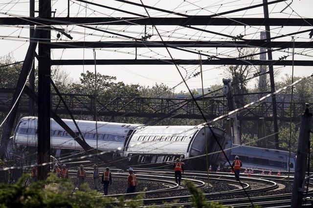Descarrilamiento de un tren en Filadelfia