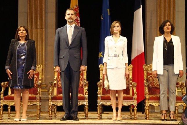 Los Reyes, en su visita de Estado a Francia