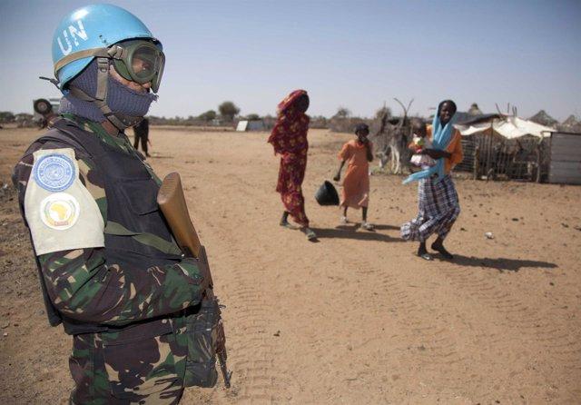 Cascos azules en Darfur (Sudán)