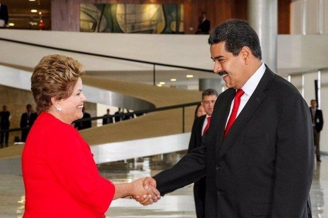 Dilma Rousseff y Nicolás Maduro.