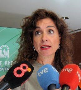 Consejera de Hacienda y Administración Pública en funciones, María Jesús Montero