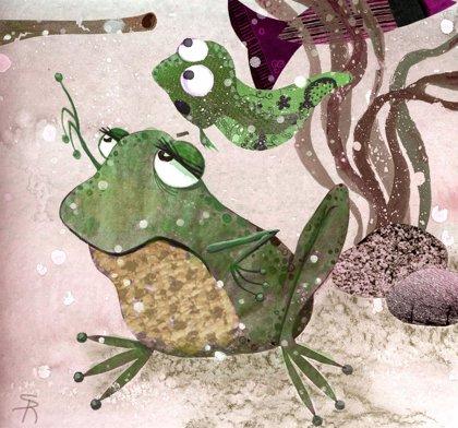 La rana y el renacuajo. Fábulas para niños