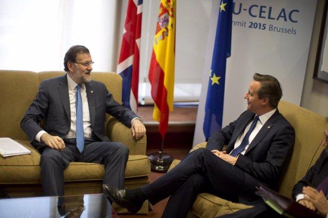 Rajoy se reúne con el primer ministro británico, David Cameron