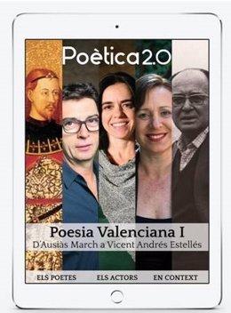 Imagen de la aplicación de poesía audiovisual