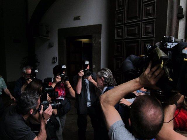 Correa a su llegada al TSJCV