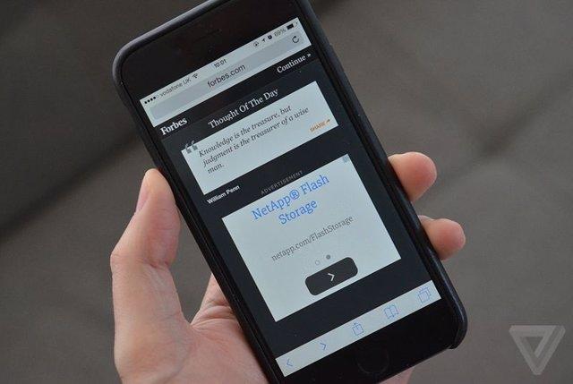 Publicidad web en el iPhone