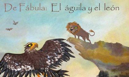 El águila y el león. Fábulas para niños