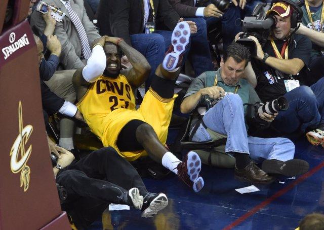LeBron James en el Golden State Warriors - Cleveland Cavaliers