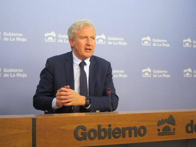 El portavoz del Gobierno regional, Emilio del Río