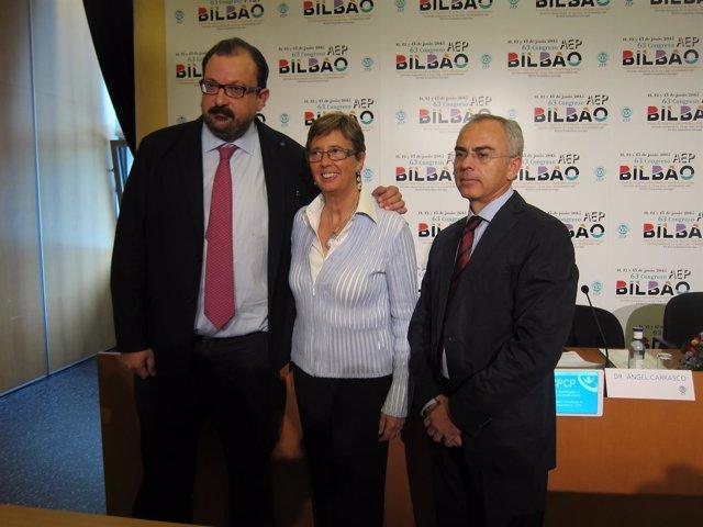 Angel Carrasco, Begoña Domínguez y Carlos Valdivia