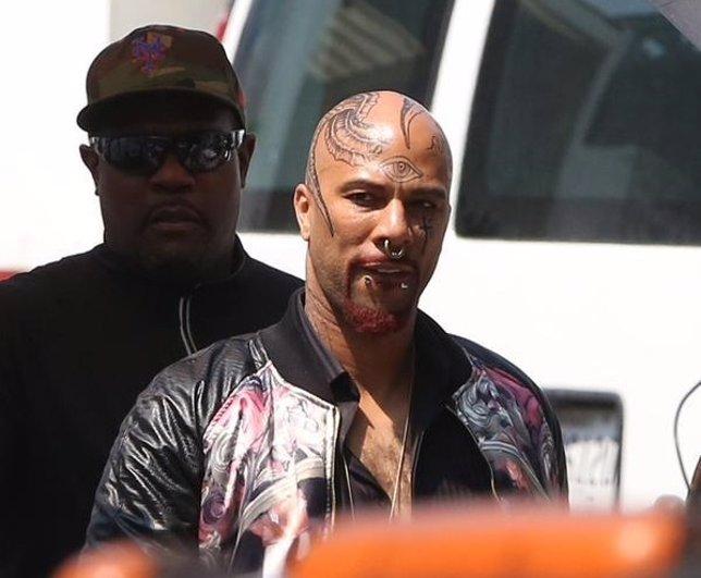 El rapero Common en el set de rodaje de Suicide Squad