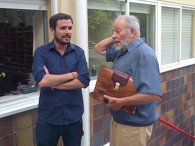 Alberto Garzón y Julio Anguita