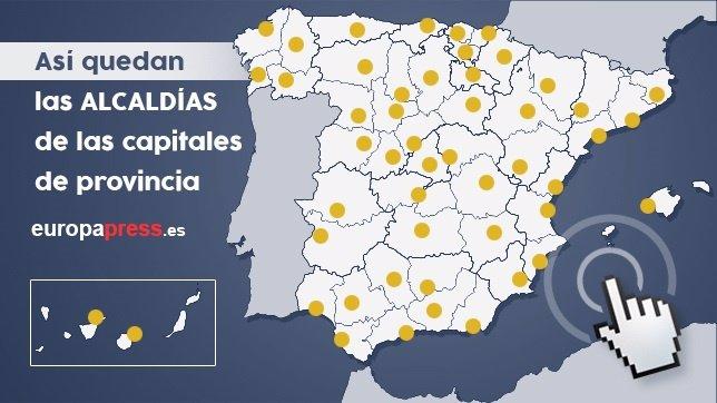 Mapa de capitales de provincia