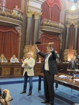 Eneko Goia toma posesión como alcalde de San Sebastián.