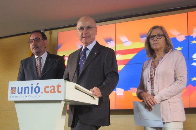Ramon Espadaler, Josep Antoni Duran, Joana Ortega (UDC)