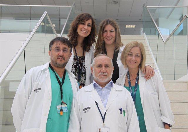 Médicos de la Unidad de Grandes Quemados del Hospital La Fe