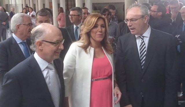 Cristóbal Montoro, Susana Díaz y Juan Pablo Durán