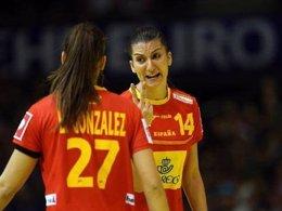 Guerreras balonmano femeninoLara González Eli Chávez