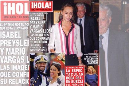 Isabel Preysler y Vargas Llosa, nueva pareja del papel 'couché'