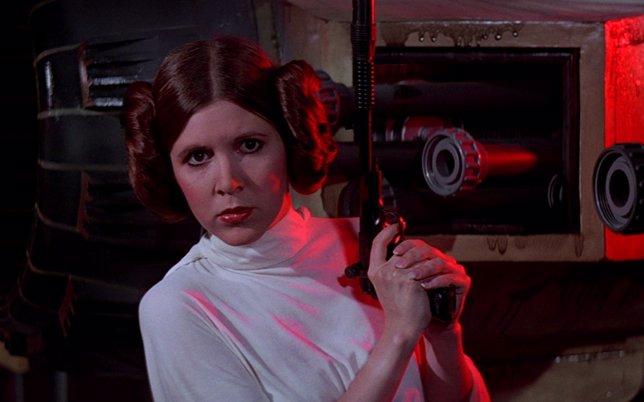 La princesa Leia (Carrie Fisher)