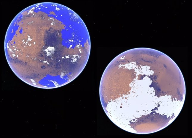 Escenarios cálido y frío en un Marte primitivo