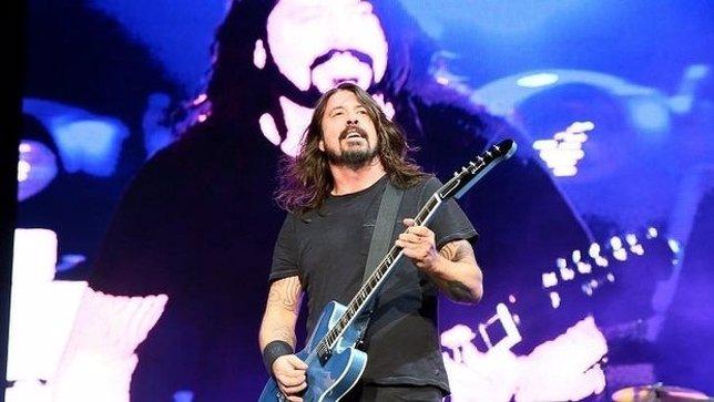 Dave Grohl, de los Foo Fighters, en un concierto