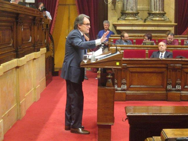 El pte.Artur Mas, en el debate monográfico de salud en el Parlament