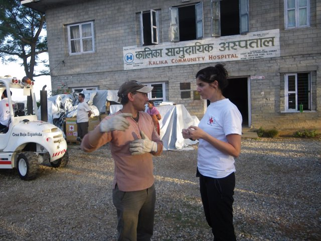 La cooperante Cristina Alcántara en Nepal