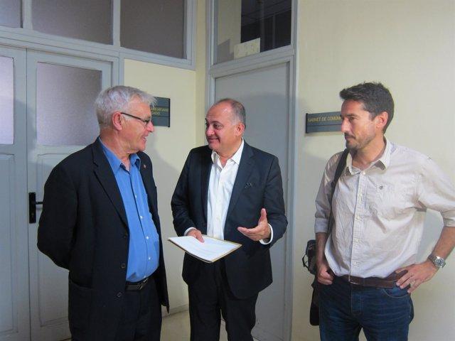 Ribó, Calabuig y Peris tras una reunión